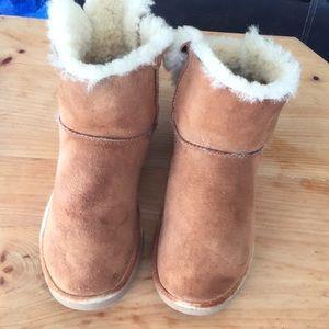 Australia ugg sz9 suede mini boots chestnut  good